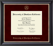 University of Southern California Diploma Frame - Gold Embossed Diploma Frame in Noir