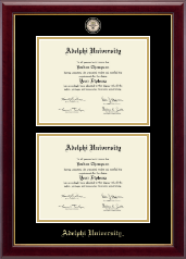 Adelphi University Diploma Frame - Masterpiece Medallion Double Diploma Frame in Gallery