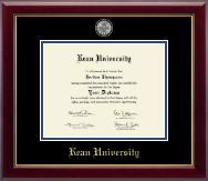 Kean University Diploma Frame - Masterpiece Medallion Diploma Frame in Gallery