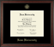 Kean University Diploma Frame - Gold Embossed Diploma Frame in Studio