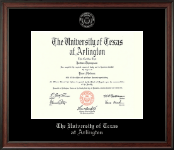 The University of Texas at Arlington Diploma Frame - Silver Embossed Diploma Frame in Studio