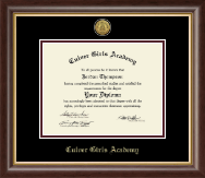 Culver Academies Diploma Frame - Gold Engraved Medallion Diploma Frame in Hampshire