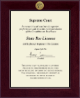 State of Ohio Certificate Frame - Century Gold Engraved Certificate Frame in Cordova