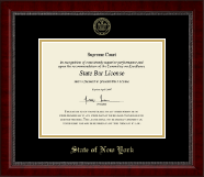 State of New York Certificate Frame - Gold Embossed Certificate Frame in Sutton