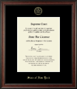 State of New York Certificate Frame - Gold Embossed Certificate Frame in Studio