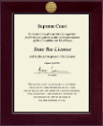 State of New York Certificate Frame - Century Gold Engraved Certificate Frame in Cordova