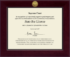 Commonwealth of Pennsylvania Certificate Frame - Century Gold Engraved Certificate Frame in Cordova