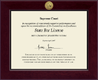 State of Illinois Certificate Frame - Century Gold Engraved Certificate Frame in Cordova