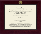 State of Florida Certificate Frame - Century Gold Engraved Certificate Frame in Cordova
