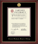Harvard University Diploma Frame - Gold Engraved Medallion Diploma Frame in Kensington Gold