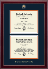 Bucknell University Diploma Frame - Masterpiece Medallion Double Diploma Frame in Gallery