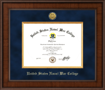 United States Naval War College Diploma Frame - Presidential Gold Engraved Diploma Frame in Madison