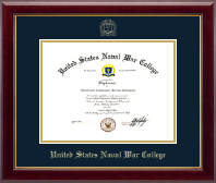 United States Naval War College Diploma Frame - Gold Embossed Diploma Frame in Gallery