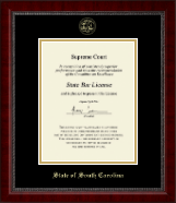 State of South Carolina Certificate Frame - Gold Embossed Certificate Frame in Sutton
