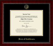 State of California Certificate Frame - Gold Embossed Certificate Frame in Sutton