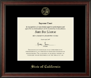 State of California Certificate Frame - Gold Embossed Certificate Frame in Studio