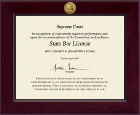 State of California Certificate Frame - Century Gold Engraved Certificate Frame in Cordova