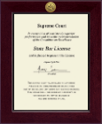 State of Wisconsin Certificate Frame - Century Gold Engraved Certificate Frame in Cordova