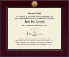 Commonwealth of Virginia Certificate Frame - Century Gold Engraved Certificate Frame in Cordova