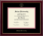 Salus University Diploma Frame - Gold Embossed Diploma Frame in Gallery