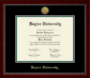 Baylor University Diploma Frame - Gold Engraved Medallion Diploma Frame in Sutton