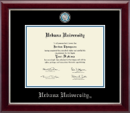Urbana University Diploma Frame - Masterpiece Medallion Diploma Frame in Gallery Silver