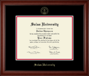 Salus University Diploma Frame - Gold Embossed Diploma Frame in Cambridge