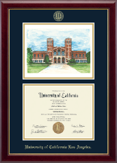 University of California Los Angeles Diploma Frame - Campus Scene Diploma Frame in Gallery