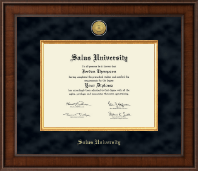 Salus University Diploma Frame - Presidential Gold Engraved Diploma Frame in Madison