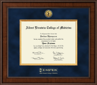 Albert Einstein College of Medicine Diploma Frame - Presidential Gold Engraved Diploma Frame in Madison