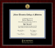 PhD- Gold Engraved Medallion Diploma Frame