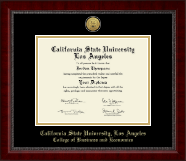 California State University Los Angeles Diploma Frame - Gold Engraved Medallion Diploma Frame in Sutton