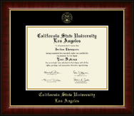 California State University Los Angeles Diploma Frame - Gold Embossed Diploma Frame in Murano