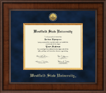 Westfield State University Diploma Frame - Presidential Gold Engraved Diploma Frame in Madison