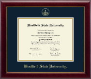 Westfield State University Diploma Frame - Gold Embossed Diploma Frame in Gallery