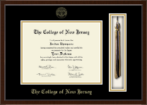 The College of New Jersey Diploma Frame - Tassel Edition Diploma Frame in Omega