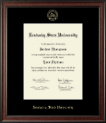 Kentucky State University Diploma Frame - Gold Embossed Diploma Frame in Studio
