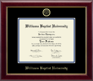 Williams Baptist University Diploma Frame - Gold Embossed Diploma Frame in Gallery