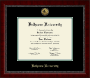 Belhaven University Diploma Frame - Gold Engraved Medallion Diploma Frame in Sutton