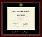 Loyola University Maryland Diploma Frame - Gold Engraved Medallion Diploma Frame in Sutton