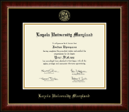 Loyola University Maryland Diploma Frame - Gold Embossed Diploma Frame in Murano