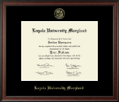 Loyola University Maryland Diploma Frame - Gold Embossed Diploma Frame in Studio
