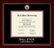 Ball State University Diploma Frame - Gold Engraved Medallion Diploma Frame in Sutton