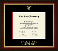 Ball State University Diploma Frame - Gold Embossed Diploma Frame in Murano