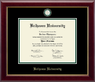 Belhaven University Diploma Frame - Masterpiece Medallion Diploma Frame in Gallery