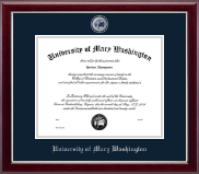 University of Mary Washington Diploma Frame - Masterpiece Medallion Diploma Frame in Gallery Silver
