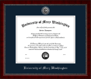 University of Mary Washington Diploma Frame - Silver Engraved Medallion Diploma Frame in Sutton