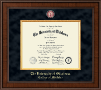 The University of Oklahoma Diploma Frame - Presidential Masterpiece Diploma Frame in Madison