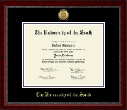 The University of the South Diploma Frame - Gold Engraved Medallion Diploma Frame in Sutton