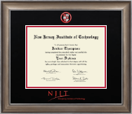New Jersey Institute of Technology Diploma Frame - Dimensions Diploma Frame in Easton